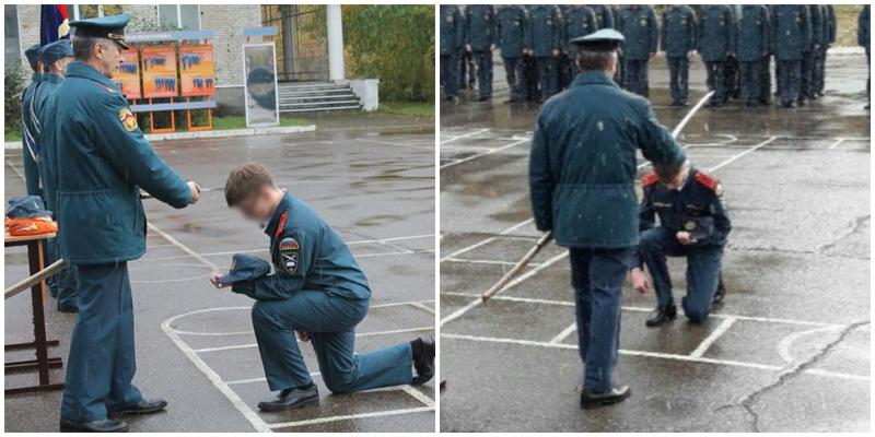В Красноярском крае кадетов посвятили в выпускники японским мечом-катаной