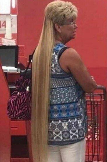 6. Когда очень хотела длинные волосы