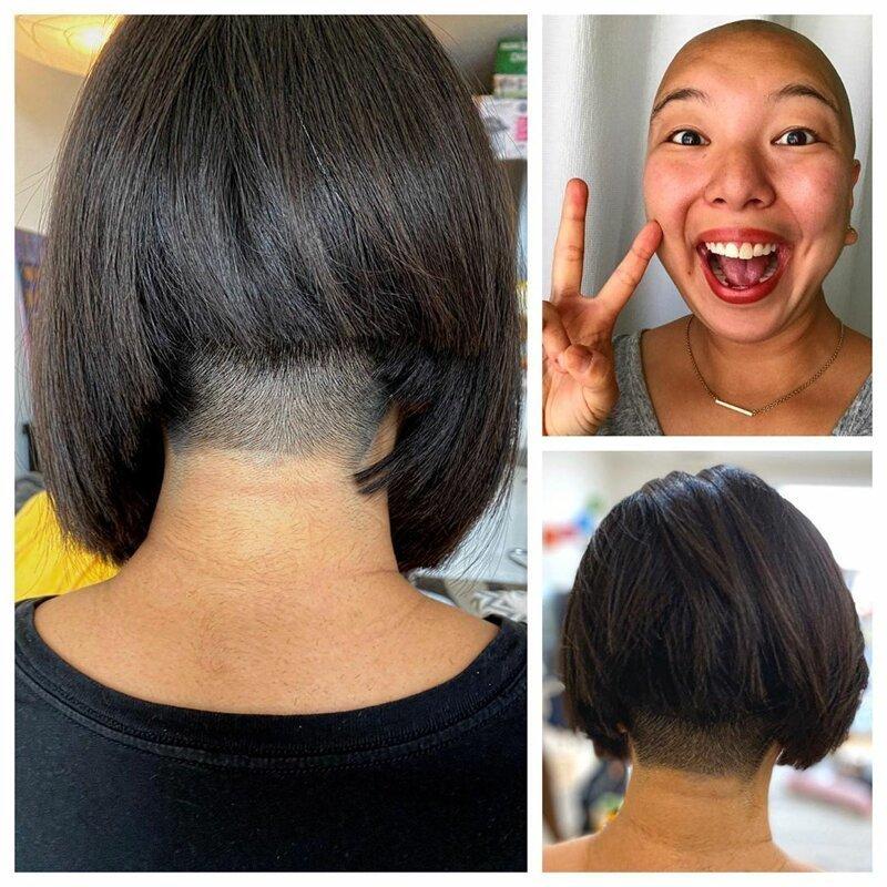 9. Из-за плохой стрижки девушка подстриглась налысо