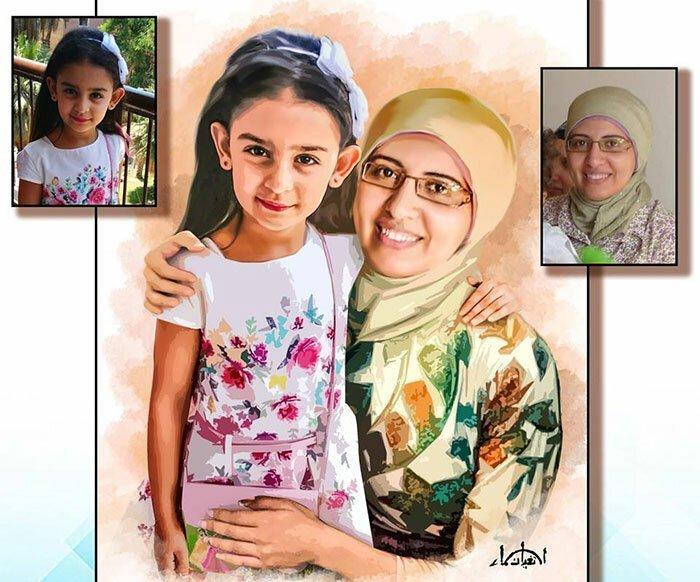 Мать этой девочки умерла, когда ей было 3 месяца. У них не было совместных фото, но один талантливый художник сделал ей такой подарок: