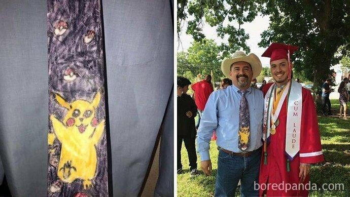 """""""Я сделал этот галстук папе, когда был в первом классе. Теперь папа в нем на моем выпускном"""""""