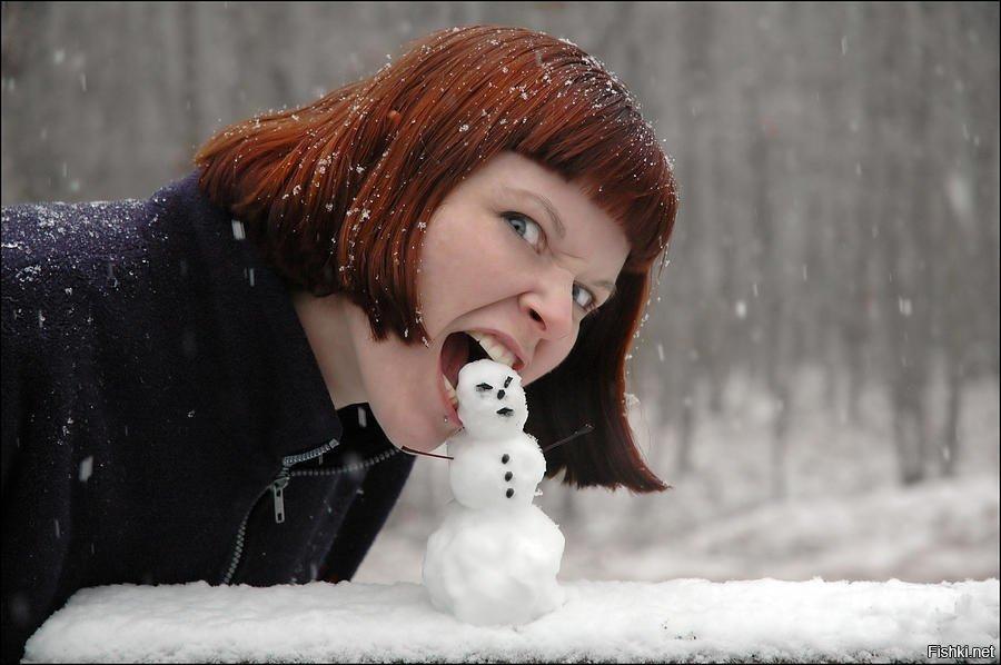 прикольные картинки про зиму на аву также