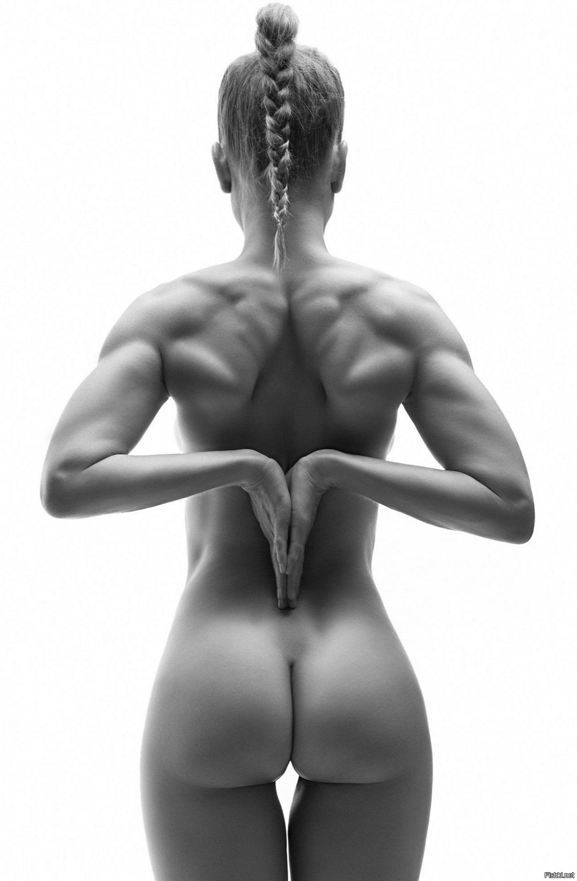 Image Of Back View Of Nude Woman