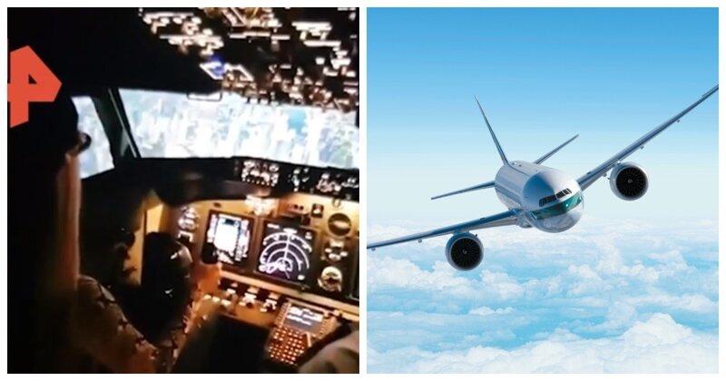 Пилот из Краснодара дал своей дочери порулить пассажирским самолетом