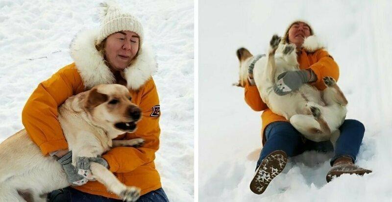 История о том, как девушка устроила фотосессию со своей собакой