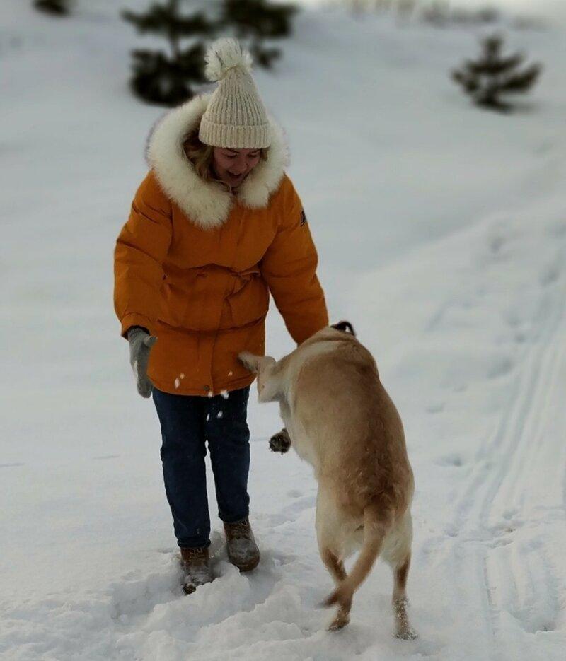 Девушка показала, во что может превратиться фотосессия с собакой