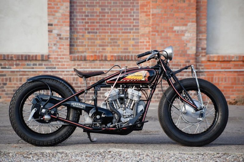 Herzbube Motorcycles: кастом-байк Indian Scout 101