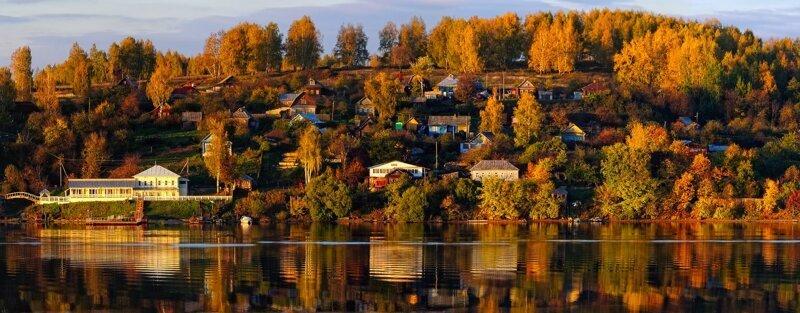 Серковая слобода, деревня напротив города Плёс