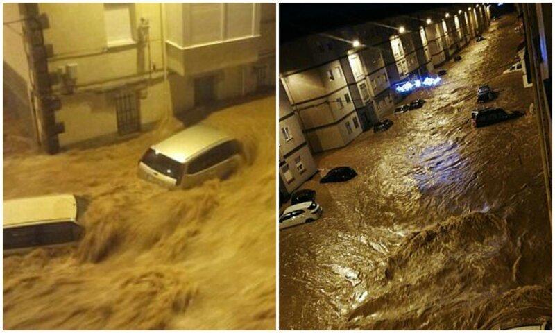 Видео: наводнение в Испании смывает автомобили. thumbnail