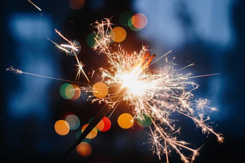 бенгальские огни фото новый год странице представлено