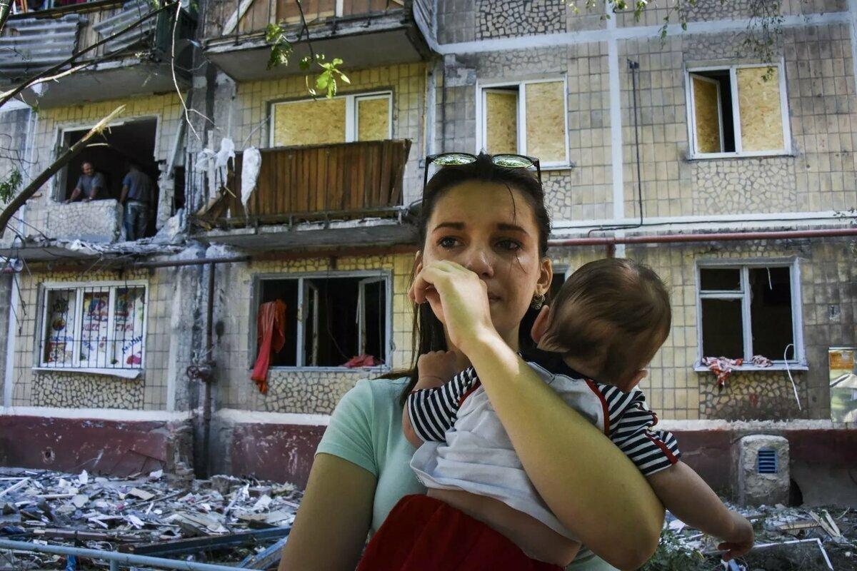 Фото войны донбасса дети
