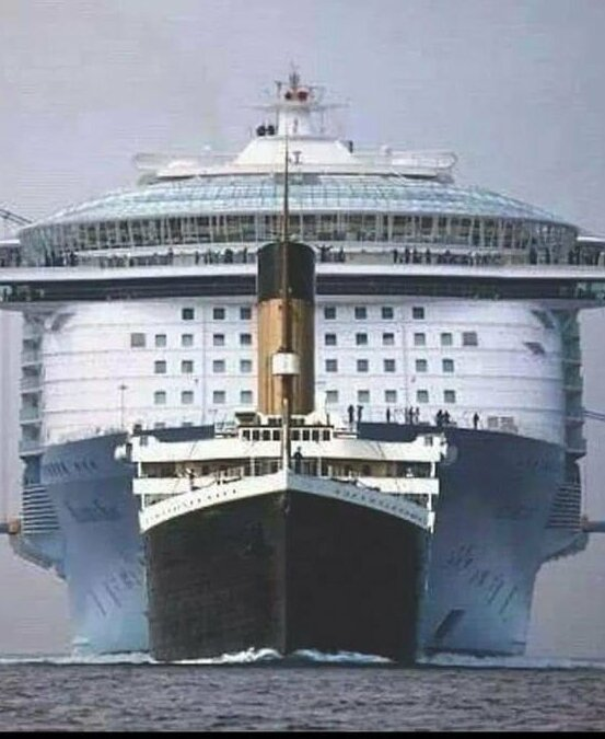 Титаник и современный круизный лайнер
