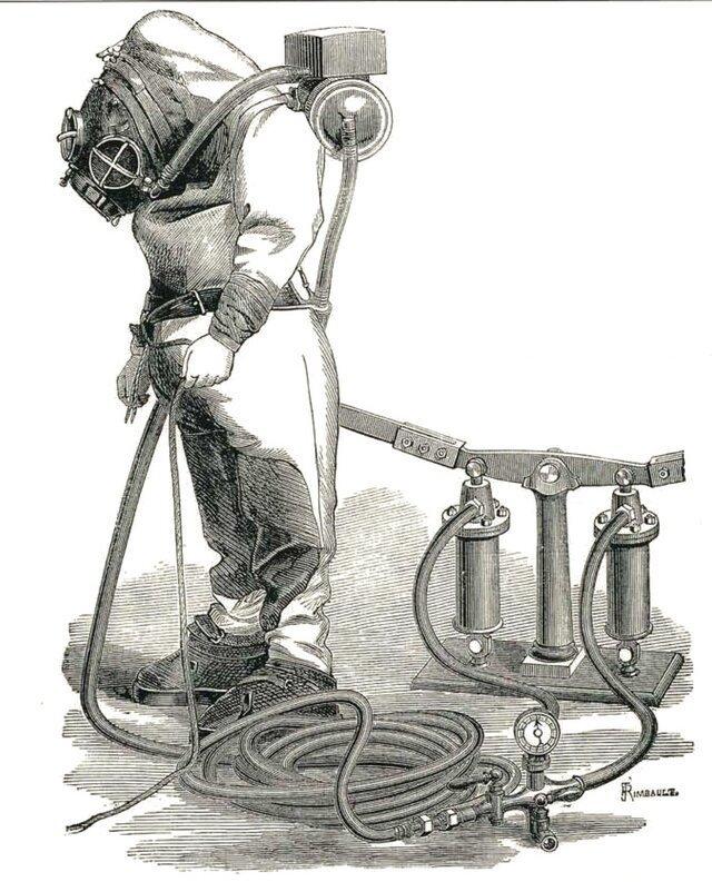 Водолазный скафандр Рукеройля-Денейруза, 1870-е