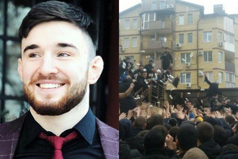 По стопам Жириновского: чеченский блогер разбросал на площади Волгограда 200 тысяч рублей