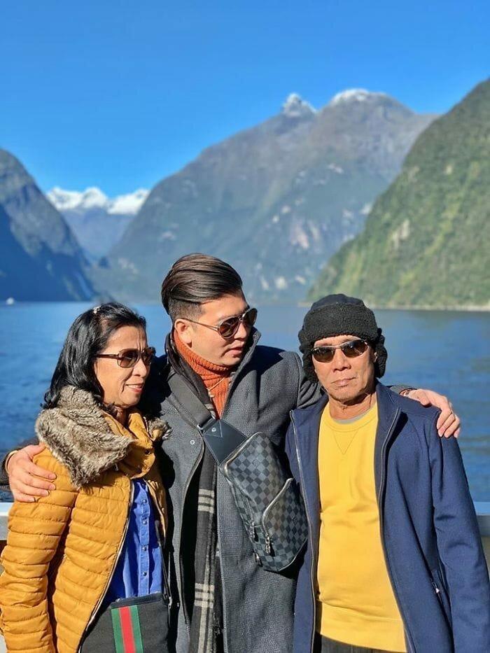 Джайви показал родителям мир и побывал с ними в Австралии, Новой Зеландии и Дубае