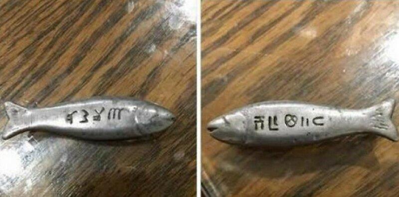 Что это за рыбы с символами?