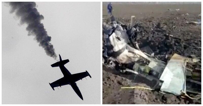 В Минобороны назвали возможную причину крушения учебного самолета Л-39