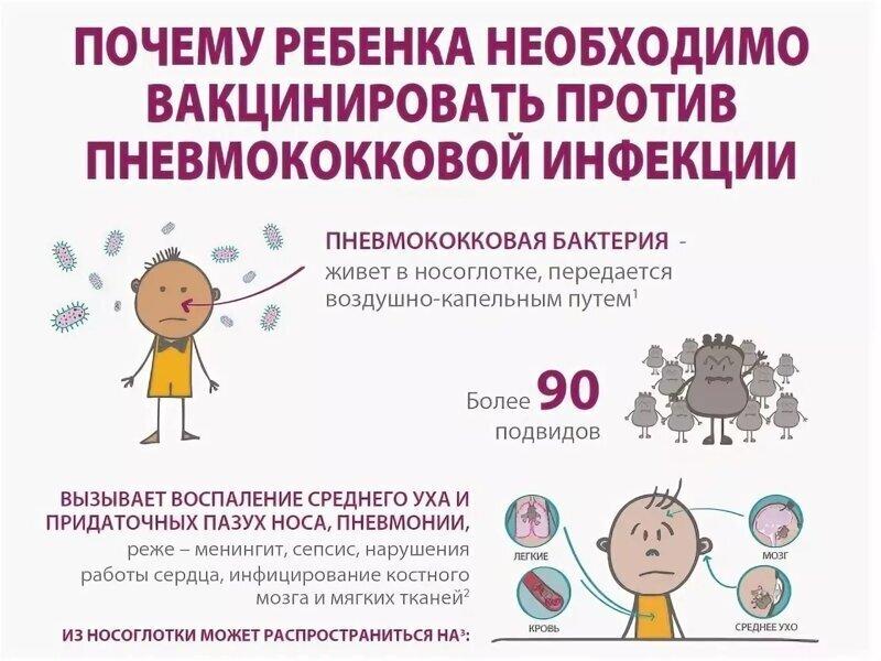 С 2020 введена прививка от пневмококковой инфекции, начиная с первого года жизни