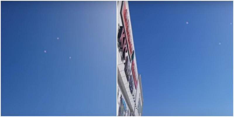 Очевидцы засняли над Томском три НЛО в форме правильного треугольника