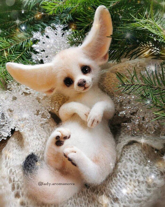 Очаровательные зверушки из войлока мастерицы из России