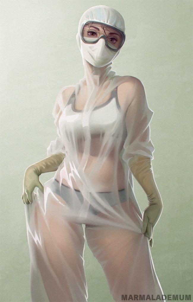 Художники вдохновились ее красотой и тут понеслось...