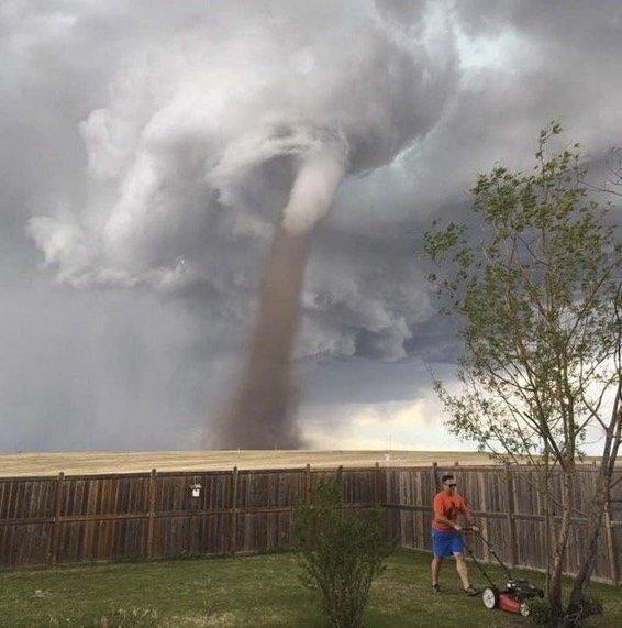 Он видимо привык к торнадо
