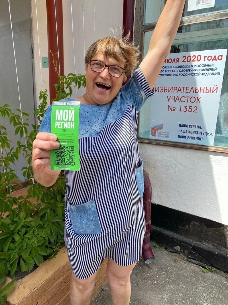 Председатель участковой комиссии Омской области пришла голосовать и случайно выиграла квартиру