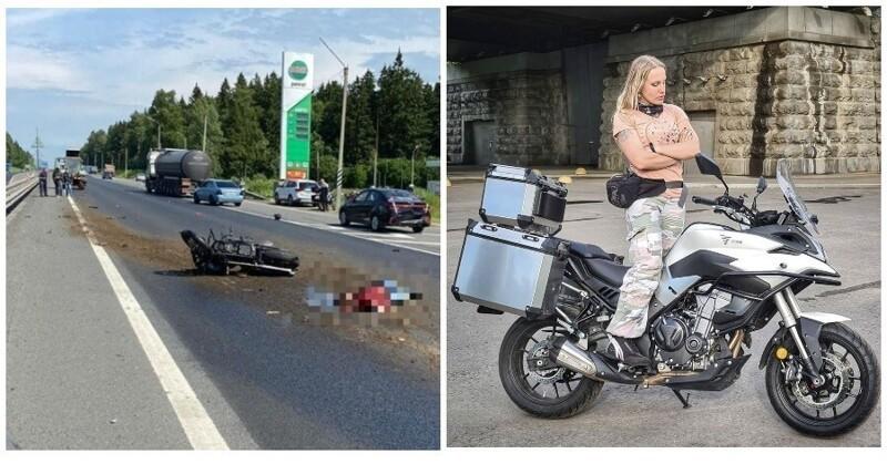 Мотоблогерша погибла ради красивого кадра