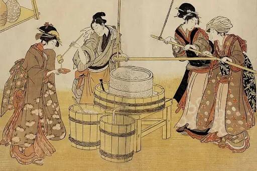 Как появилось саке