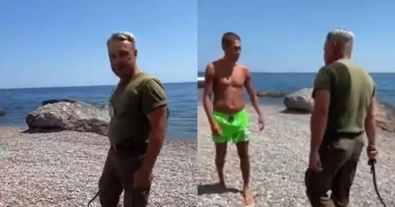 В Крыму охранник с нагайкой прогнал отдыхающих с санаторного пляжа