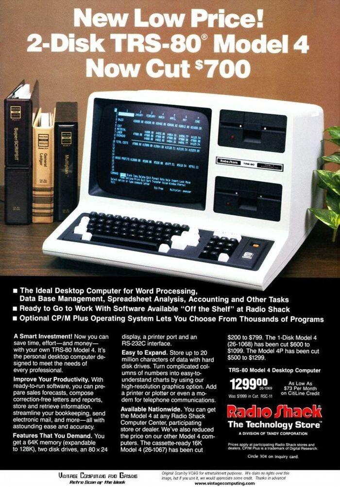 ПК 1983 года - $1300