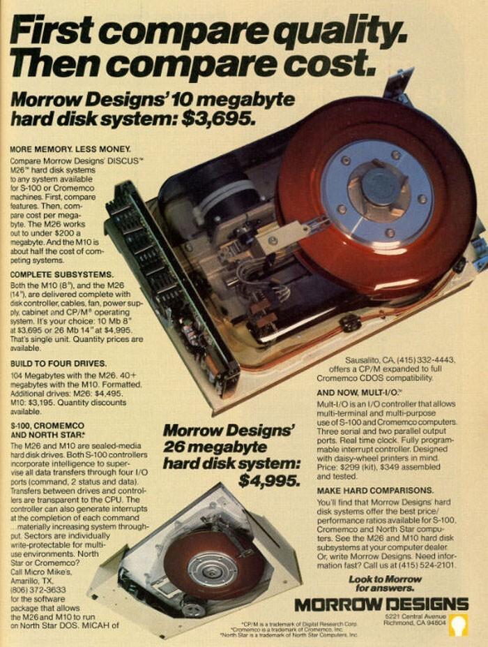 Жесткий диск на 10 МБ - $3695
