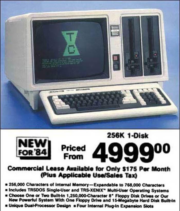 Компьютер РС, 1984 год - $1999