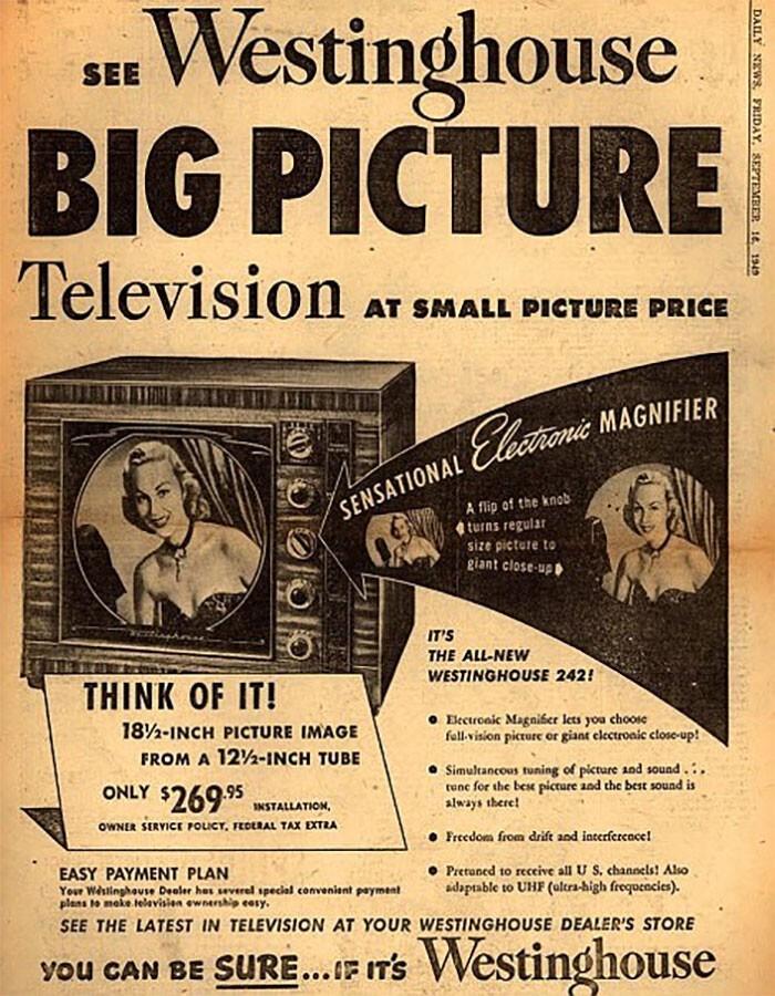 """Телевизор """"с большой картинкой"""" - $269"""