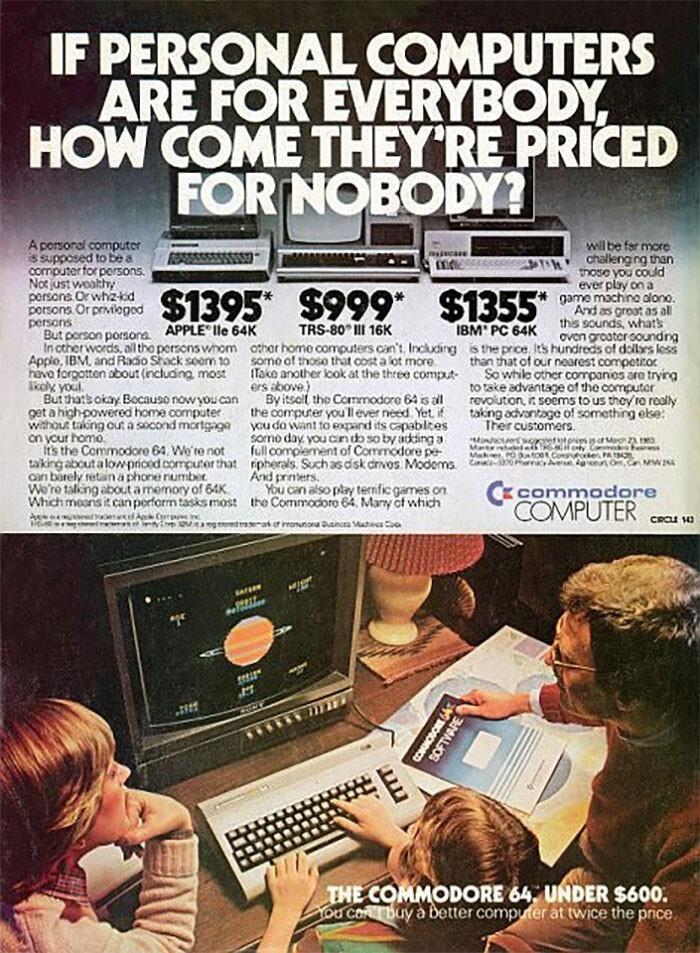 Персональный компьютер Commodore - $600