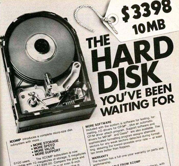 Жесткий диск на 10 МБ - $3998