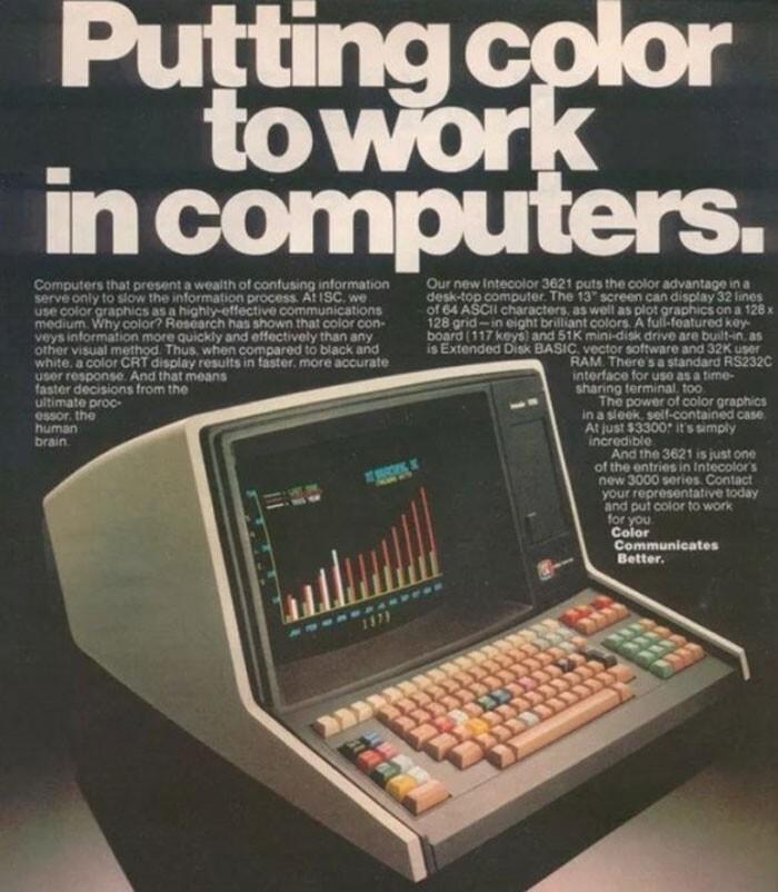 Компьютер с цветным монитором - $3300