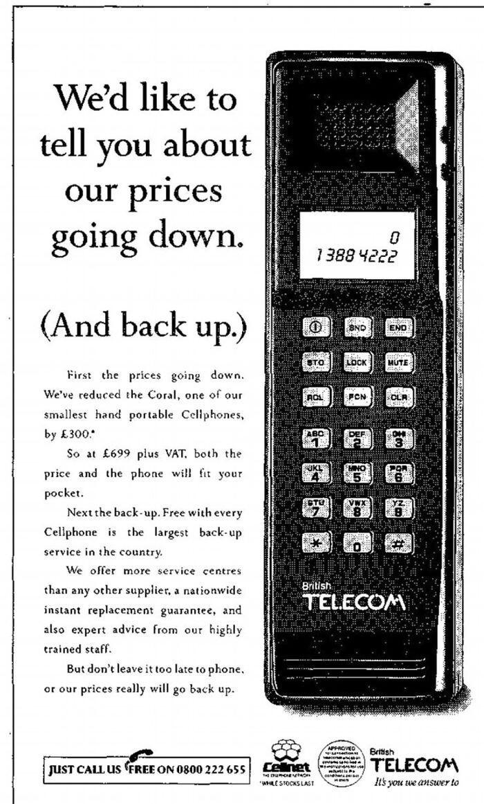 Сотовый телефон - $895