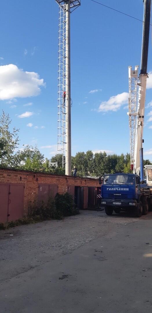 В Пензе вышку сотовой связи установили прямо в гараж