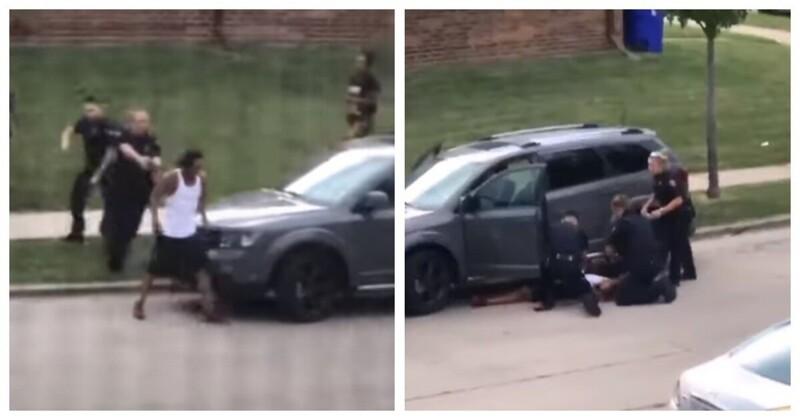 В США полицейские выстрелили в безоружного чернокожего семь раз. Начались сильнейшие беспорядки
