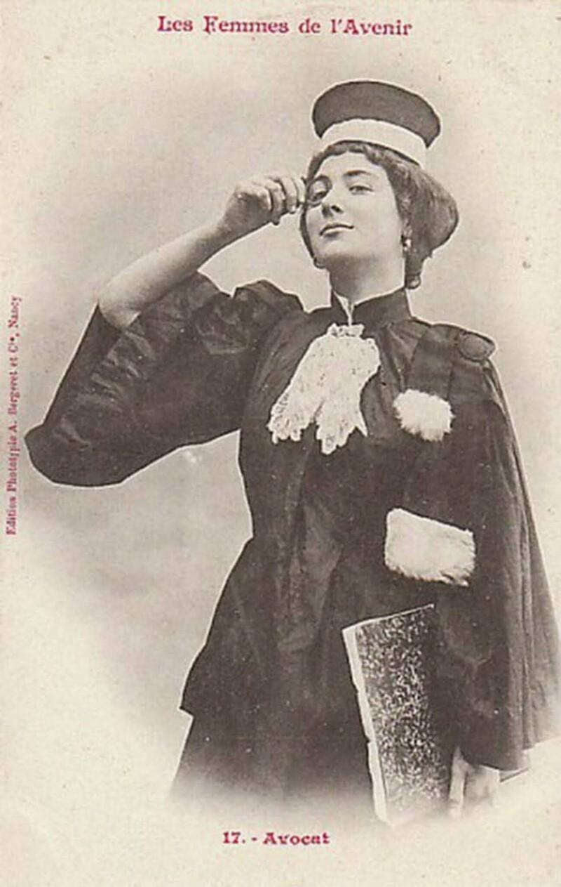 8. Юрист. Женщинам во Франции разрешили заниматься юридической практикой в 1900 году