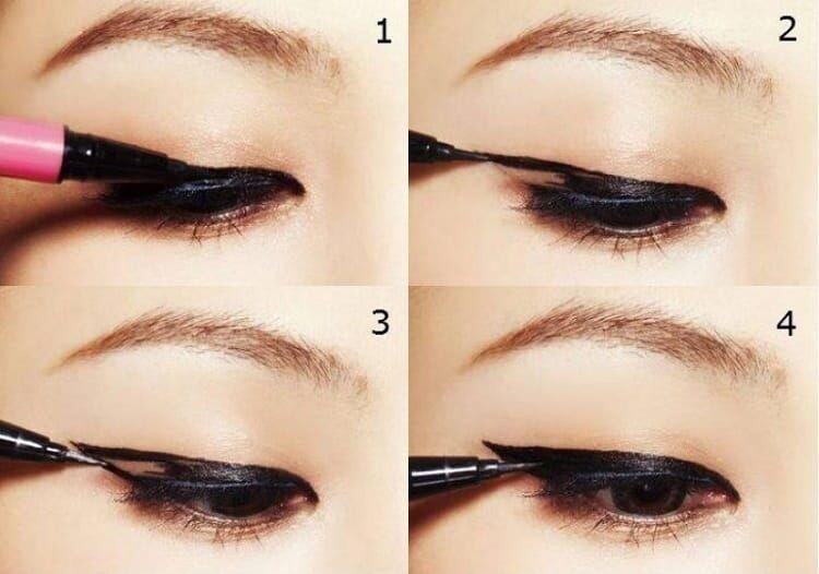 Пошаговая инструкция для начинающих: как красиво накрасить глаза подводкой, фломастером, карандашом