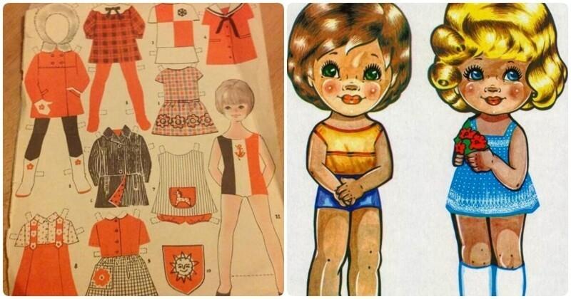 Бумажные куклы СССР: мечта советских ребятишек