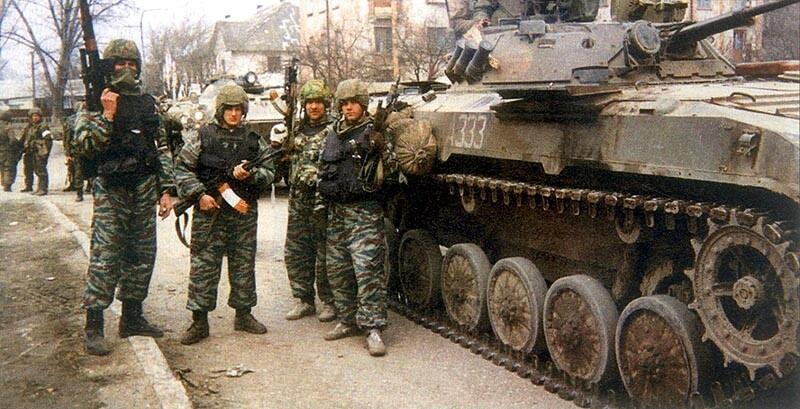29 Бойцы новосибирского ОМОНа. Черноречье. Чечня. Март 1995 г. Первая чеченская война.