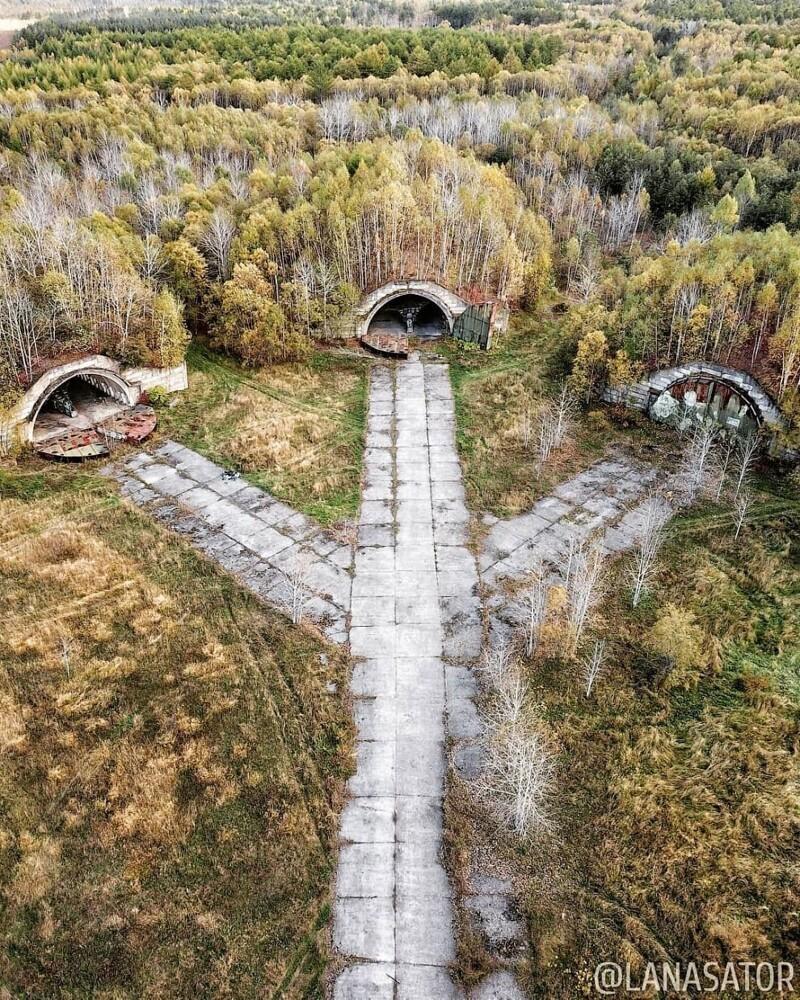 Заброшенный военный аэродром Смирных на Сахалине: