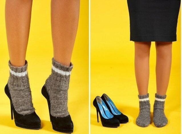 Надеть пару на носки, после ходить не меньше одного часа