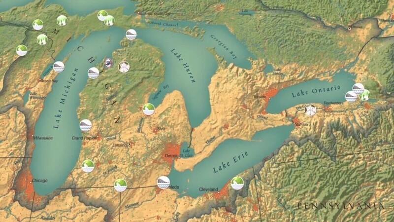 Великие озёра, Канада, США