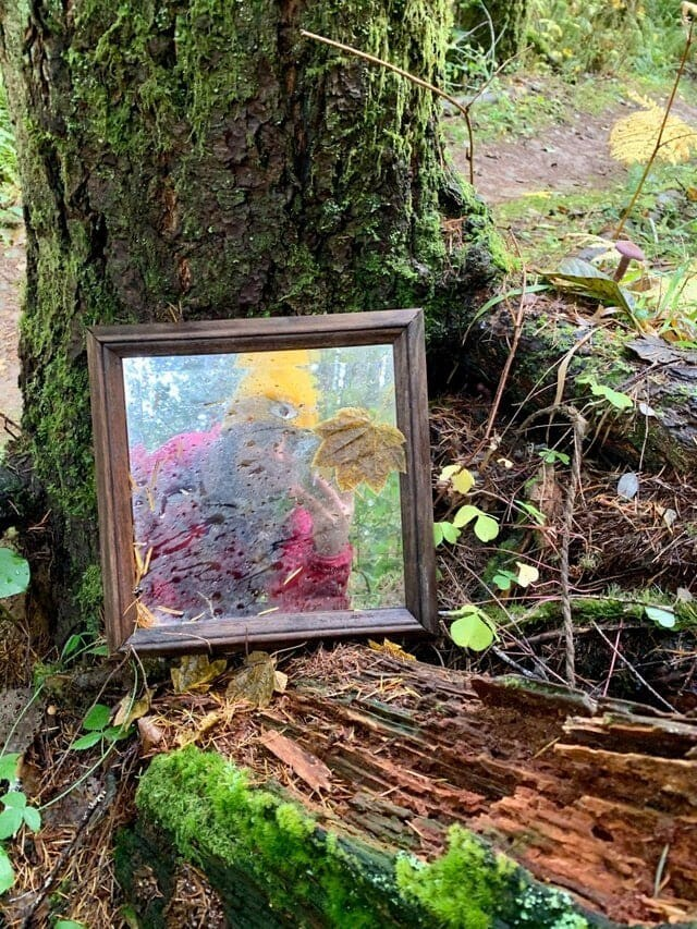 2. Кто-то оставил зеркало посреди леса