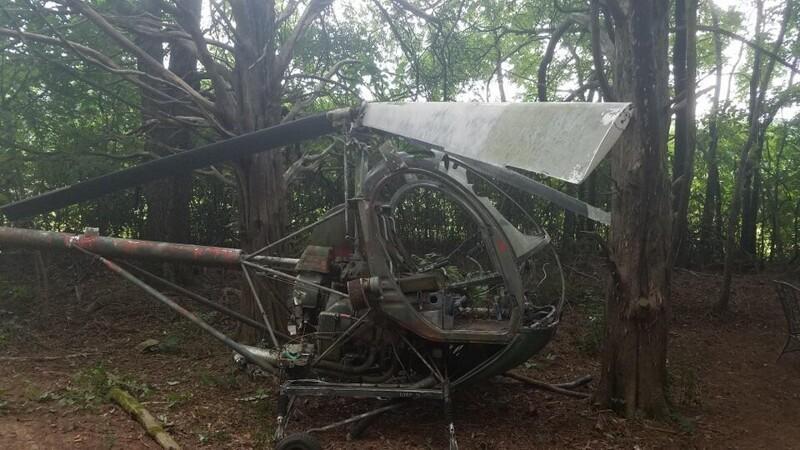 14. «Нашли в лесу старый вертолёт»