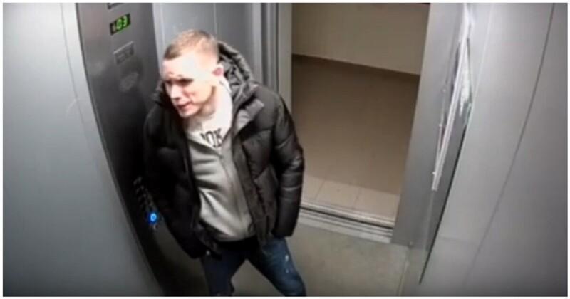Вандал обрушил свою неадекватность на зеркало в лифте
